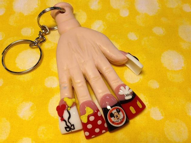 lil Mickey hand keychain