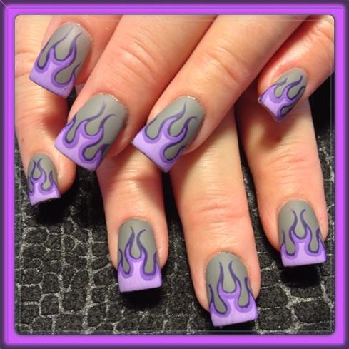 Purple matte flames