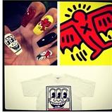 Keith Haring inspired nails