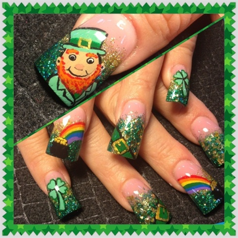 Leprechaun and pots of gold