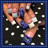 Bandana nails
