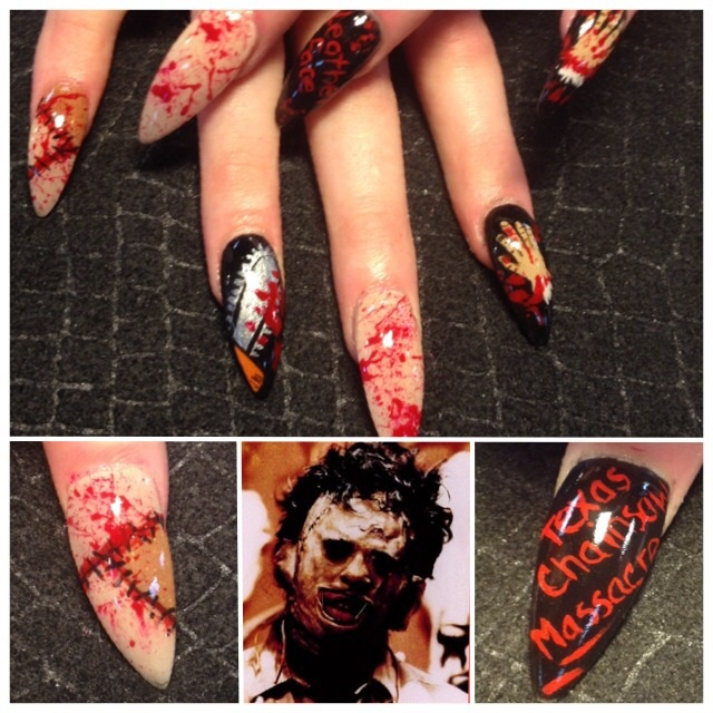 Nail Art Gallery Horror Movie Nail Art Photos