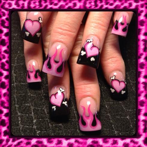 Pink valentine flames