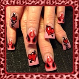 Pink flames Valentines