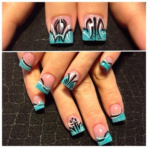 Pinstriping Nail Art Gallery