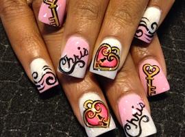 nail art: The Key To My Heart