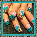 Teal And Leopard
