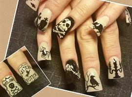 nail art: vintage halloween