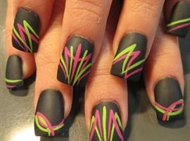 Pink and green pinstriping
