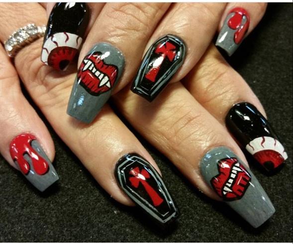 Vampire Nails - Vampire Nails - Nail Art Gallery