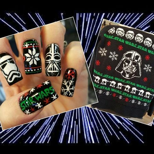 Star Wars Ugly Xmas Sweater Nails Nail Art Gallery