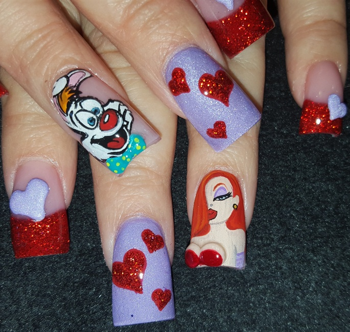 3d who framed roger rabbit - Nail Art Gallery