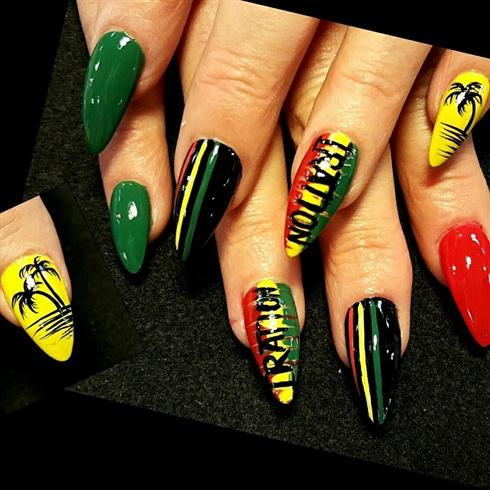 Reggae Nails Nail Art Gallery
