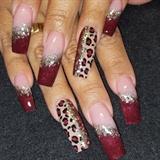 Burgundy leopard