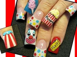 nail art: Carnival nails