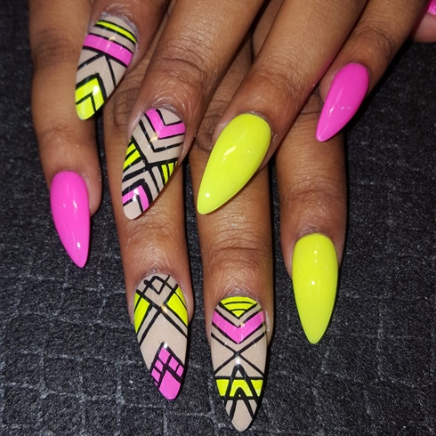 Neon mix - Neon Mix - Nail Art Gallery