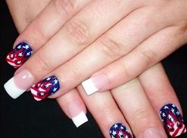 nail art: American flames