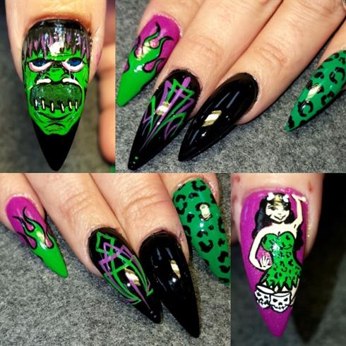 Frankentiki voodoo nails