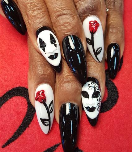 3d Masquerade Nail Art Gallery