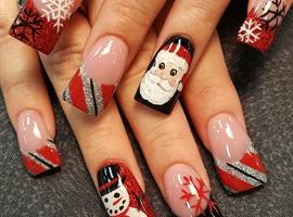 nail art: Christmas nails