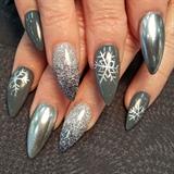 Chrome snowflakes