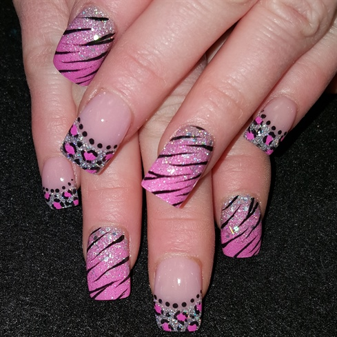 Pink zebra leopard mix
