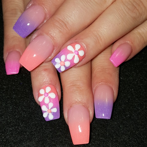 spring flowers  nail art gallery