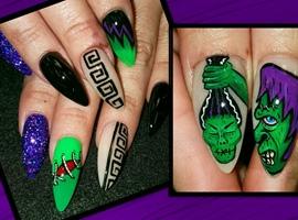 nail art: Doug dorr inspired frankentikis