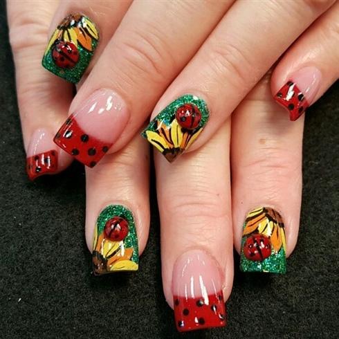 3d ladybugs