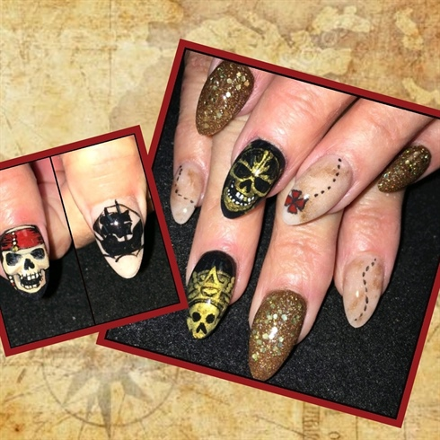 #piratesoftheCaribbean nails