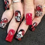 Skulls , roses, and leopard