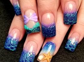 3d mermaid nails
