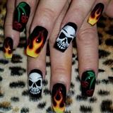 Skulls and flames
