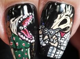 nail art: Beetlejuice