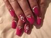 Rich Pink Matte Nails