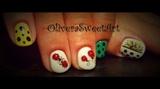 Spotted ladybug nails