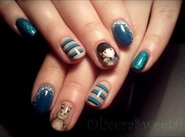 nail art: Santoro / Gorjuss