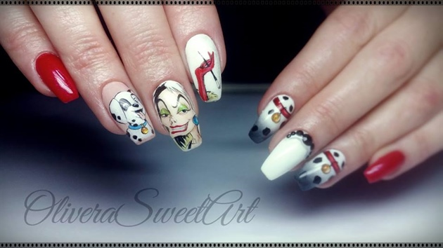 Cruella DeVil nails