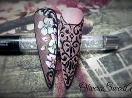Lace floral design
