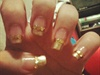 Gold Tip + Gold rhinestones