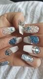 White n blue bling bling