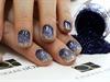 Gradient Art Glitter nails