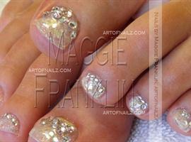 nail art: Blinged up Bride