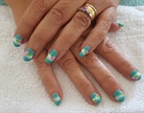 Gel floral hand painted design