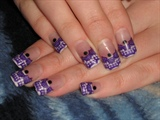 Purple Lace Tips