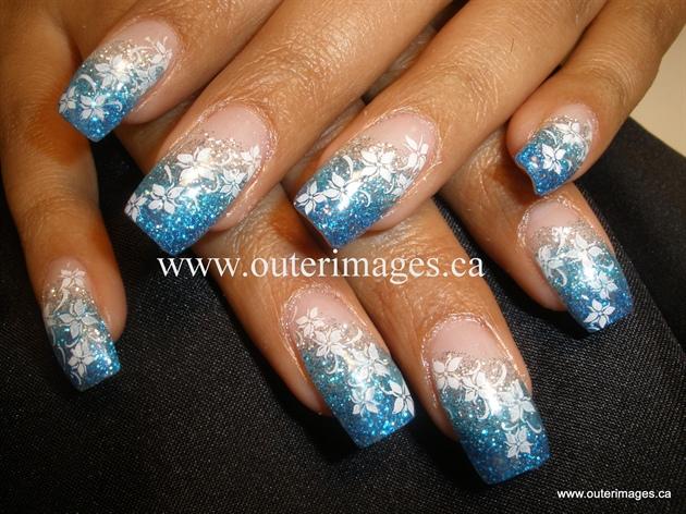 3 Colour Glitter Fade Nail Art Gallery