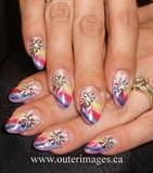 Rainbow nails - with a twist
