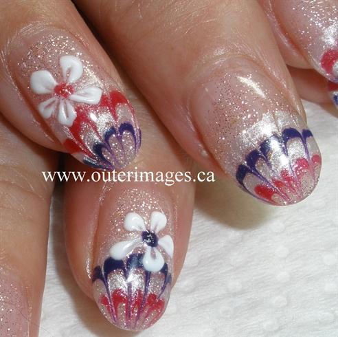 Gel Flower Marble