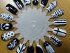Black & White Nail Art Wheel