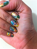 colorful dots Inspired by LOVE4NAILS